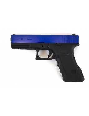 WE Europe EU17 G17 Gen3 Two-Tone Blue Gas Blowback Pistol