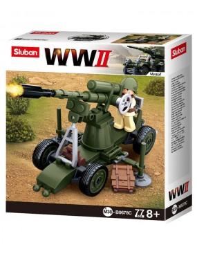 Sluban WWII Flak Gun - B0678C