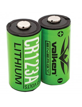 Valken Lithium 3V CR123A Battery - 2 Pack