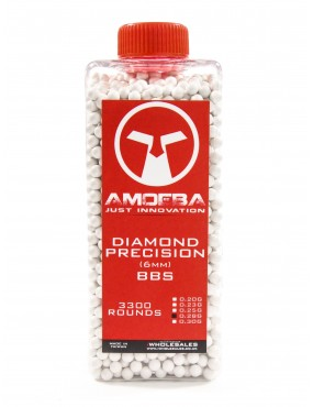 Ares Amoeba Diamond Precision 0.25g BBs 3300 Round Bottle