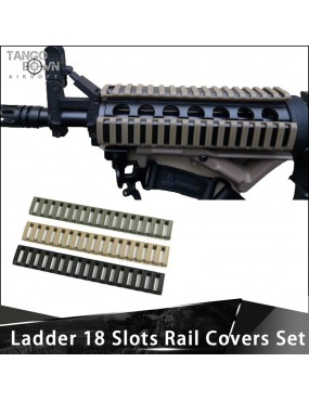Ladder Type RIS Rail 6.5'' 18 Slot 4pc Panel Set