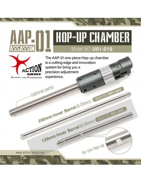 Action Army AAP-01 Silver Streak 6.03mm x 129mm Precision...