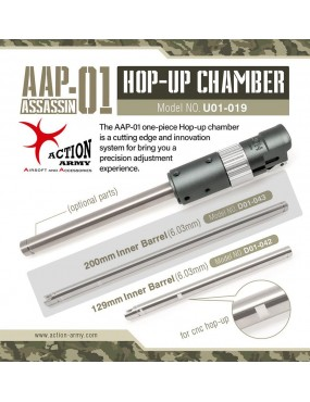 Action Army AAP-01 Silver Streak 6.03mm x 200mm Precision...