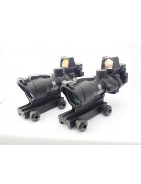 4x32 Fibre Illuminated Reticule ACOG with RMR