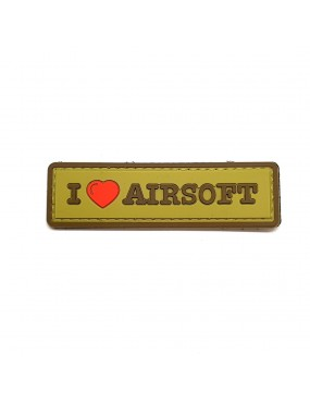 I Love Airsoft PVC Patch