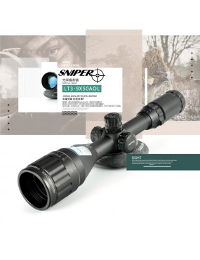 3-9x50 AOL Tactical Sniper Scope Illuminated Mil-Dot...