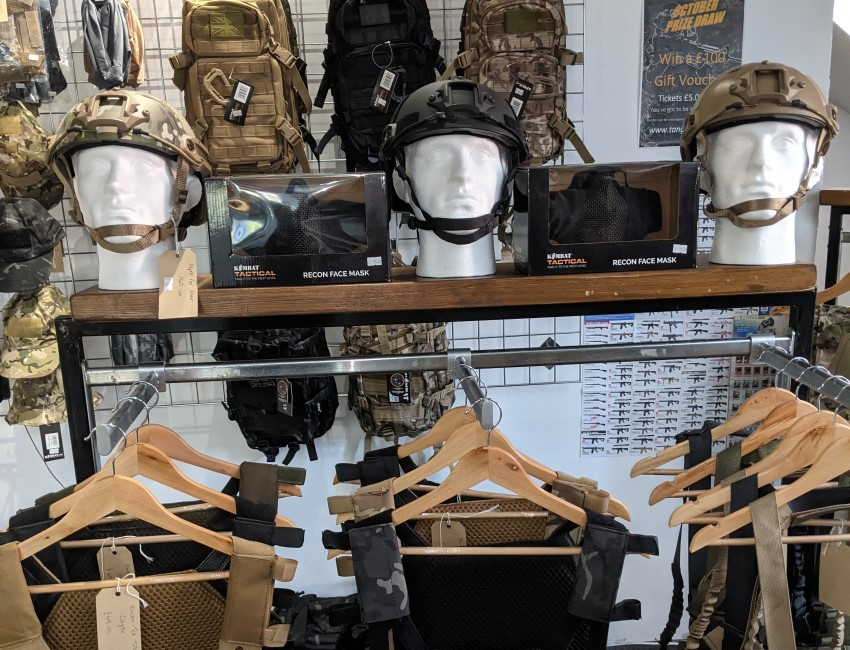 Tactical Gear at Tango Down Airsoft, Northwich