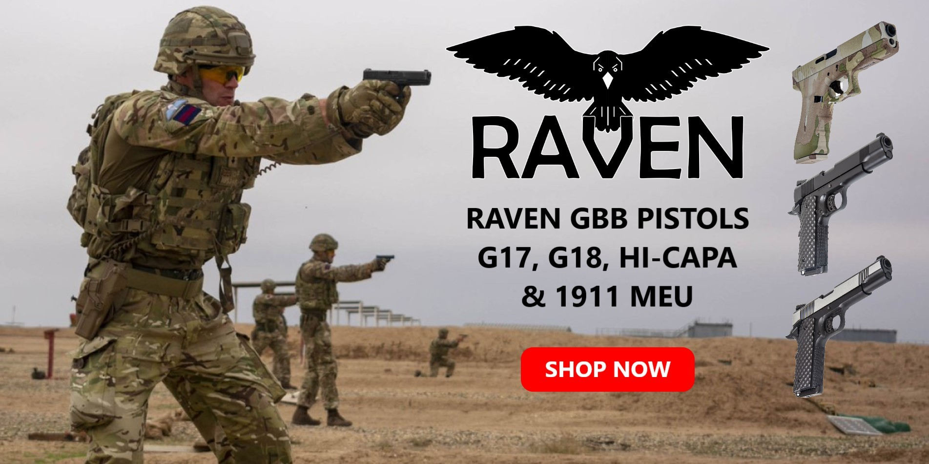 Raven GBB Pistols Prices Reduced
