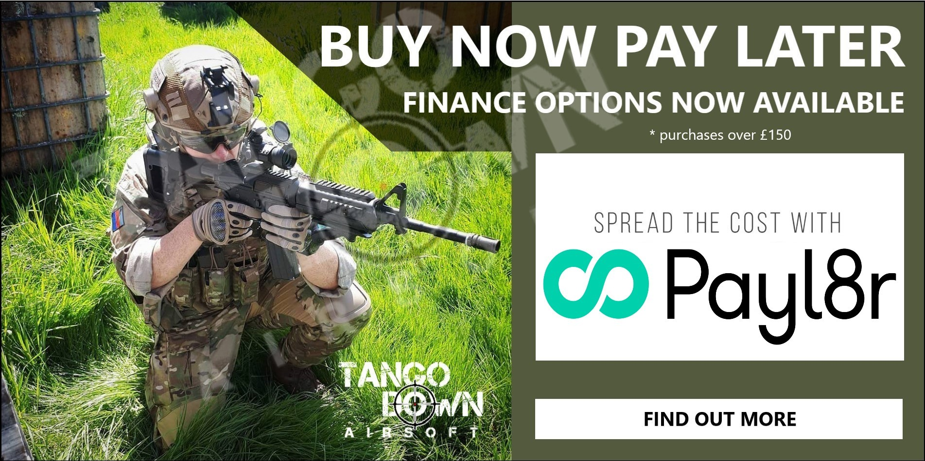 Buy Now Payl8r Finance Options Available